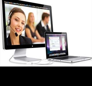 Online call-agent console voor call-center